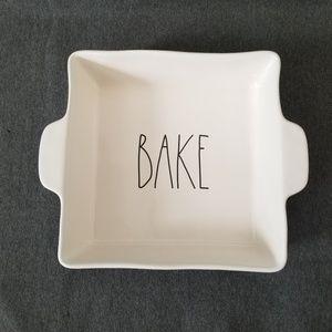"Rae Dunn Bake Casserole Bakeware Square 9"" BNWT"
